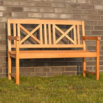 LD Banco de jardín madera muebles de jardín madera banco de 2plazas