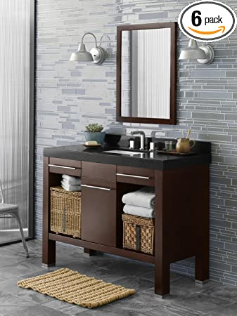 "Ronbow 033748-H01_Kit_1 Brennon Bathroom Vanity Set, 48"", Dark Cherry"