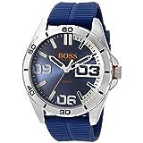 HUGO BOSS Orange Men's 1513286 berlin Analog Display Quartz Blue Watch (Color: Blue)