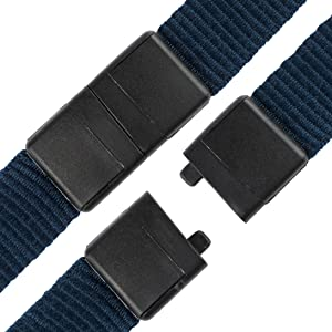 5 Pack - Premium Quick Release Lanyards with Detachable Buckle & Heavy Duty Waterproof Badge Holders by Specialist ID (Dark Navy Blue) (Color: Navy Blue)