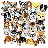 SIX VANKA Lovely Dog Patches 36pcs Random Assorted Iron On Embroidered Applique Sew on for Kids DIY Crafts Clothes Backpacks (Color: Dog Appliques Patches Set)