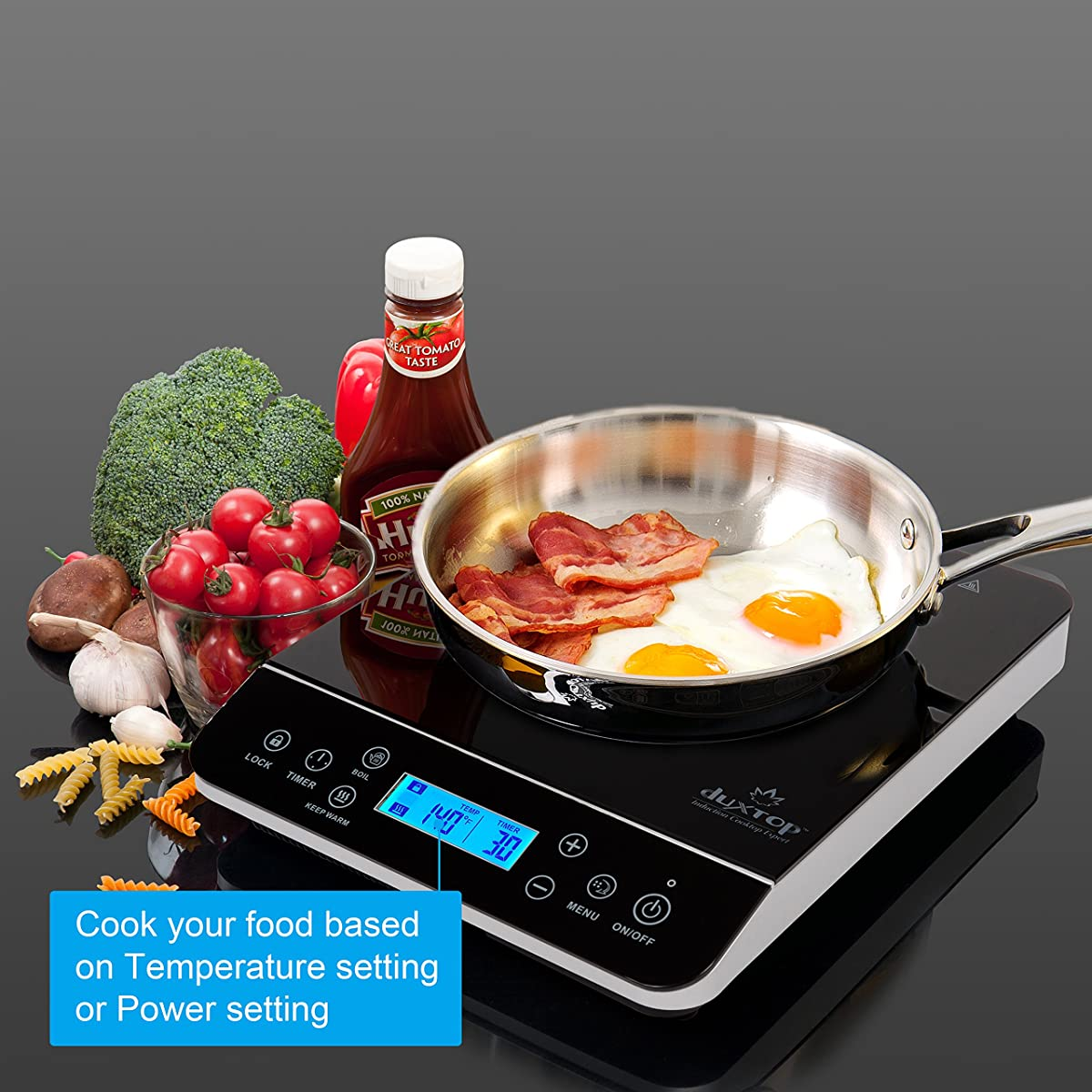 Duxtop LCD 1800-Watt Portable Induction Cooktop Countertop Burner 9600LS