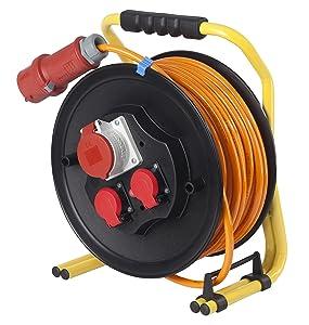as  Schwabe 20663 CEEPROFIKabeltrommel 320mmØ 30m H07BQF 5G2,5, orange, IP44 Gewerbe, Baustelle  BaumarktKundenbewertung und Beschreibung