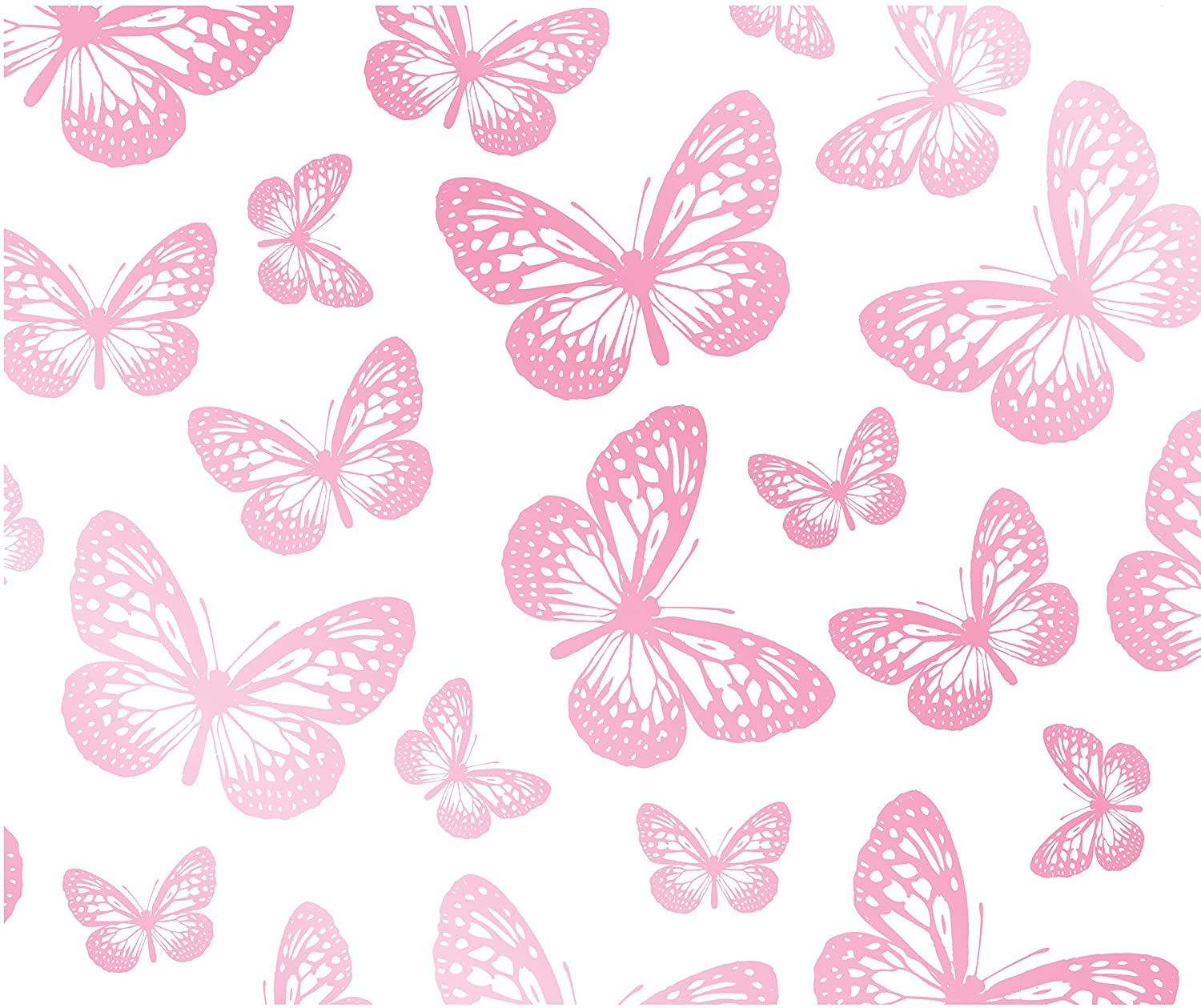 Bedroom Wall Paint Designs Pink And White Butterfly Background