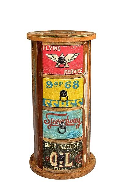 SIT-möbel 5758-98 commode speedway 30 x 30 x 60 cm, coloré, vieux bois recyclé laqué