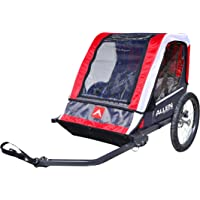 Allen Sports Deluxe 2-Child Steel Bicycle Trailer (Red)