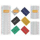 DEYUE Solderless Prototype Breadboard | 1x830 tie in point Breadboard 2x400 tie in points Circuit boards 6x170 tie points Mini Modular breadboard Kit