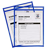 C-Line Neon Stitched Shop Ticket Holders, Blue, Both Sides Clear, 9 x 12 Inches, 15 per Box (43915) (Color: Blue, Tamaño: Box of 15)