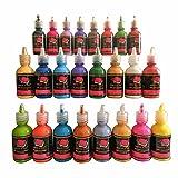 Fabric Paint 3D Permanent 24 Colors Set Marker Pens Style Premium Quality vibrant color textile paints dye for Fabric,canvas,wood,ceramic,glass by Crafts 4 ALL