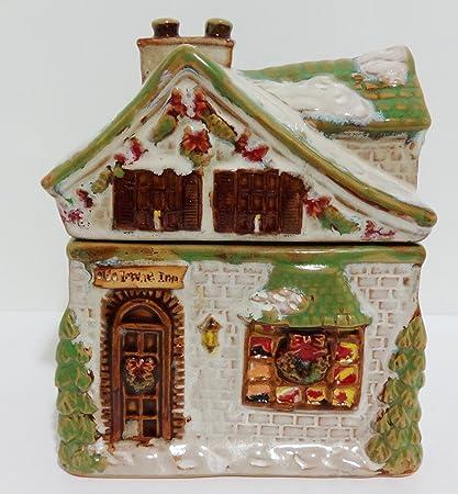 Christmas House Jar