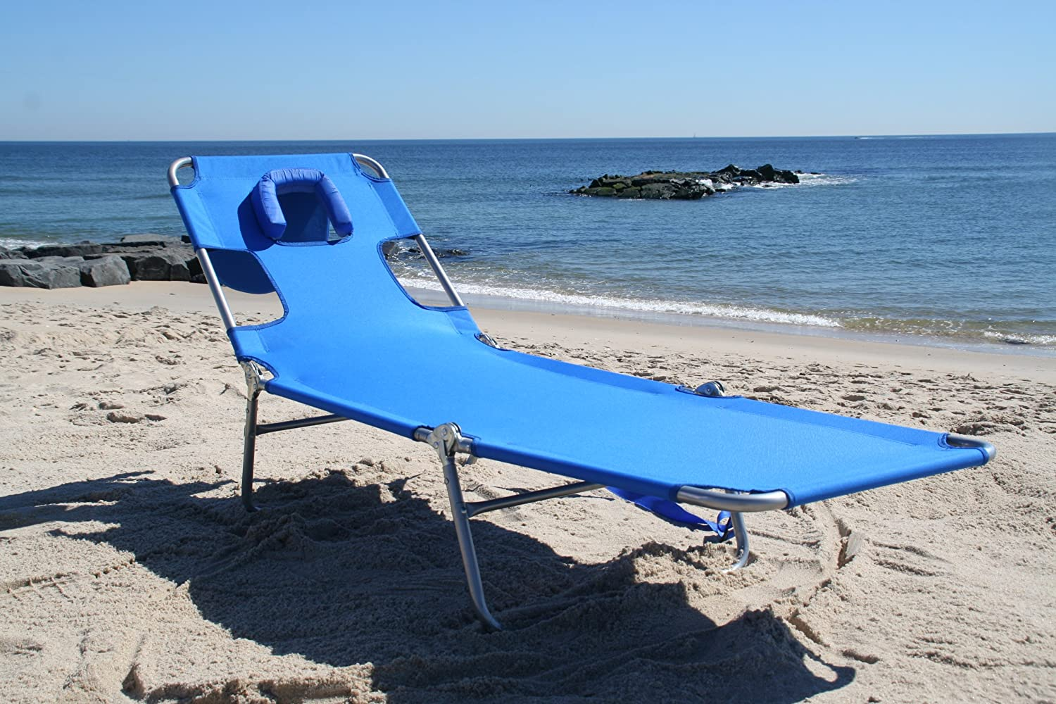 Patio lounge chair chaise beach outdoor furniture pool for Beach chaise lounge folding