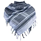 Military Shemagh Tactical Desert 100% Cotton Keffiyeh Scarf Wrap (Color: G-light Grey, Tamaño: One Size)