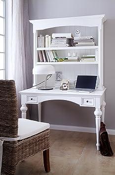 Nova Solo Secretary Desk, Mahogany, White