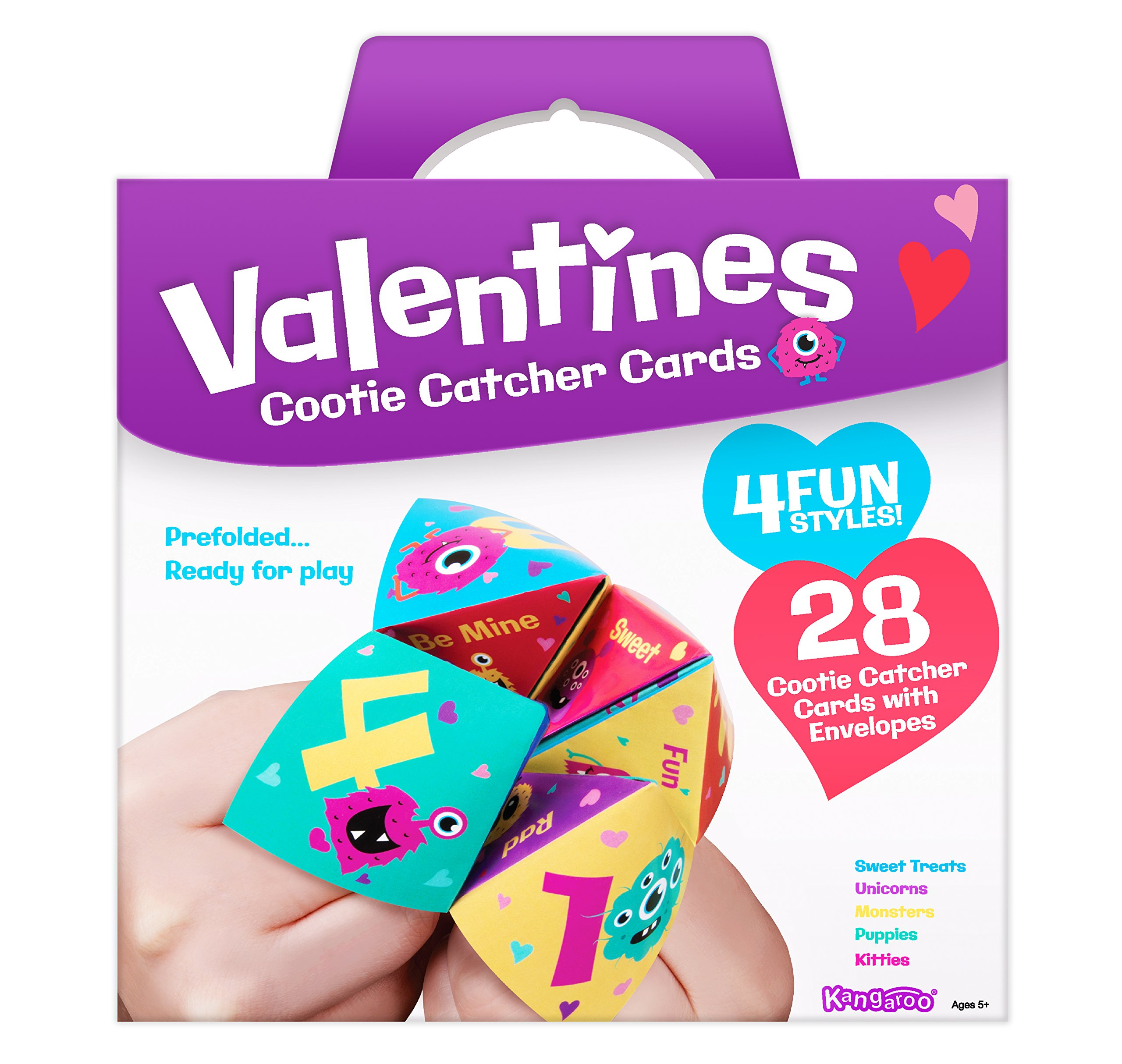 Cootie Catcher Valentines Cards