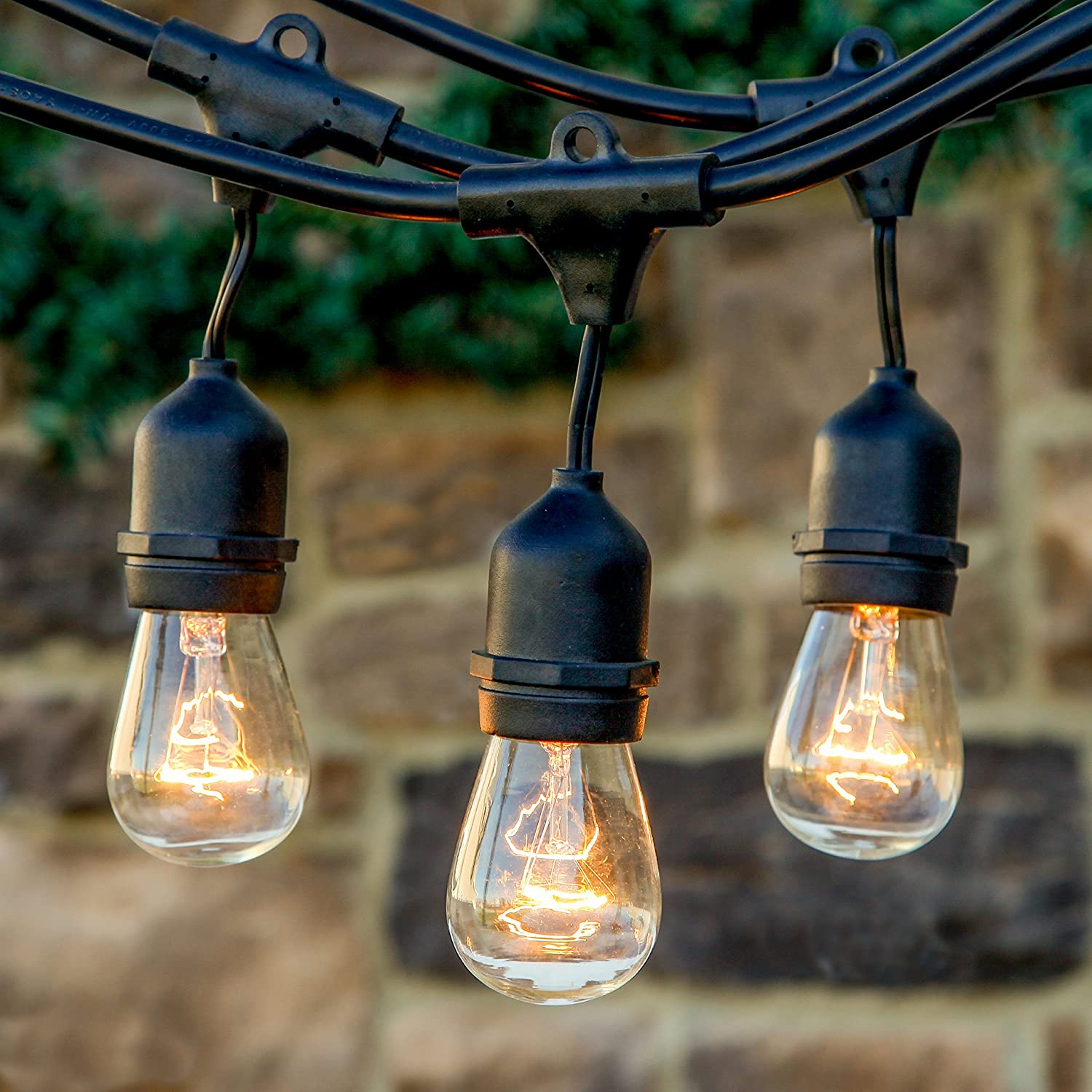 Outdoor Commercial String Lights with 11S14 Bulbs