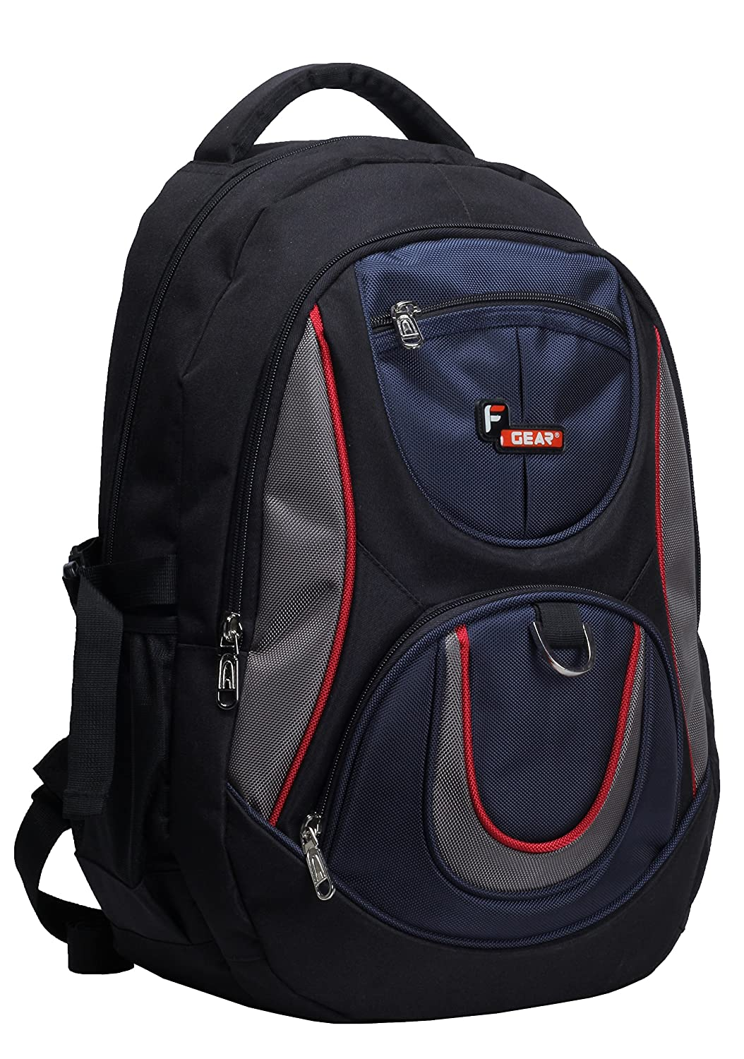 30%-60% off On Branded Backpacks By Amazon | F Gear Polyester 29Litres Black Blue School Bag @ Rs.740