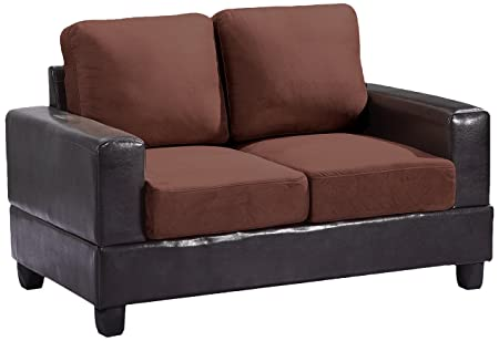 Glory Furniture G306A-L Living Room Love Seat, Chocolate