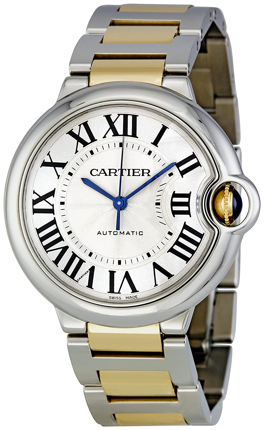 Unique Cartier Watches For Men: Ballon Bleu Steel and 18kt Gold Watch