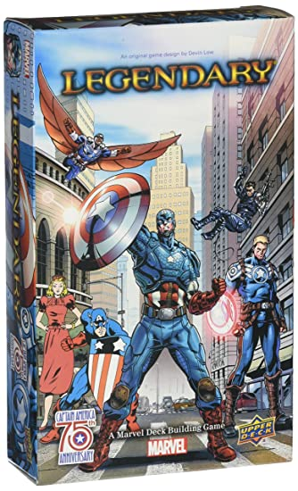 ADC BLACKFIRE Entertainment ud8 5213 – Marvel : Captain America 75 th Legendary Small Box élargissement – Anglais, jeu de cartes