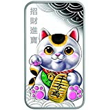 2018 TV LUCKY CAT-MANEKI-NEKO 1 oz silver proof coin $1 Perfect Uncirculated