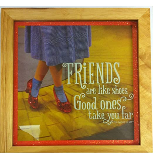 Wizard of Oz Friends Are Like Shoes Framed Art WOZ1036 by Hallmark: Posters & Prints