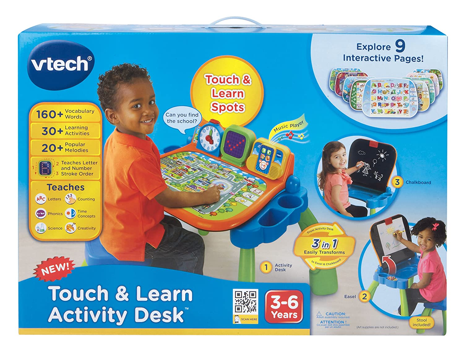 Vtech Touch And Learn Activity Desk New Free Shipping