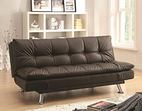 Coaster Home Furnishings 300321 Contemporary Sofa Bed, Brown/Brown