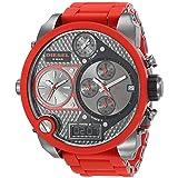 Diesel Men's DZ7279 The Daddies Series Analog Display Analog Quartz Red Watch (Color: Red/Gunmetal, Tamaño: One Size)