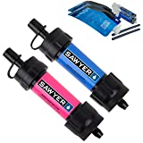 Sawyer Products SP2102 MINI Water Filtration System, 2 Pack, Blue and Pink