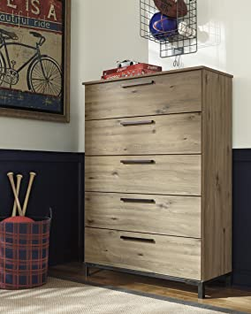 Dexifield Contemporary Five Drawer Chest by Ashley