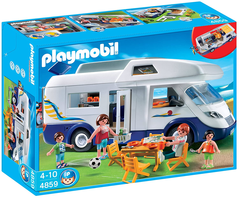 <p>Set de juego de montaje playmobil. Caravana familiar</p>