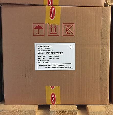 25 kg L-Arginin Base Pulver 100% rein L Arginin Aminosäure Fitness