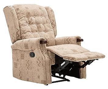 Birlea Keswick Recliner Chair, Fabric, Wheat