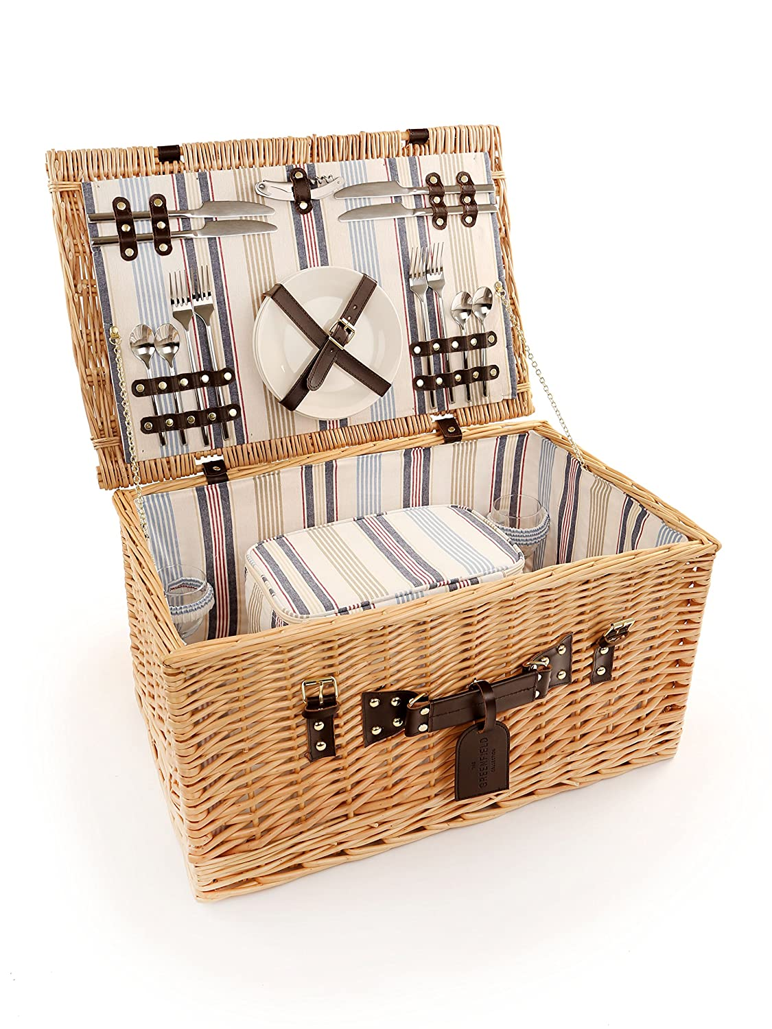 The Greenfield Collection GG038 Ludlow Weide Picnic Hamper für Vier Personen kaufen