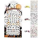 Halloween Nail Stickers, 3D Nail Tattoo Art Decals Decoration - 3 Sheets