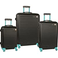 Nautica Tide Beach 3 Piece Hardside Spinner Luggage Set (Multiple Colors)