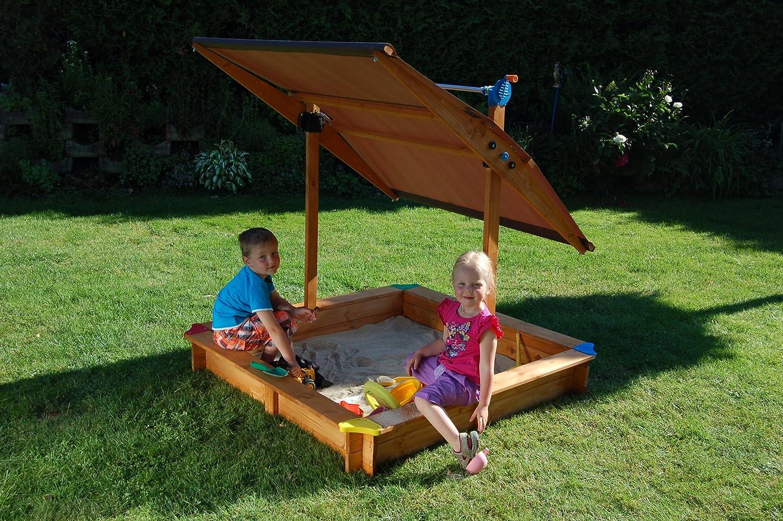 GASPO Sandkasten Mickey ll mit schwenkbaren Dach / Sonnendach günstig
