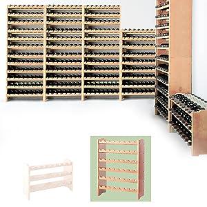 Wine rack, bottler rack system MEDOC pine wood for 48 bottles H87.5 x W68 x D27 cm       review