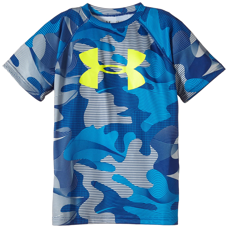 Under Armour Youth Boys Big Logo Print Short Sleeve T-Shirt roxy big girls classic short sleeve logo rashguard