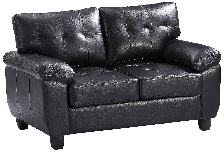 Glory Furniture G903A-L Living Room Love Seat - Black