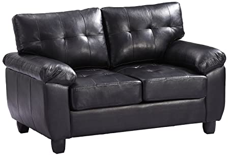Glory Furniture G903A-L Living Room Love Seat, Black