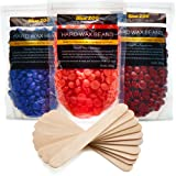 Hard Wax Kit - Wax Beans - Hair Removal Wax Melts for Women and Men - Clear Soy Waxing Beans Bulk