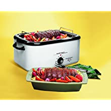 Hamilton Beach 32182 18-Quart Roaster Oven with Buffet Pans, White