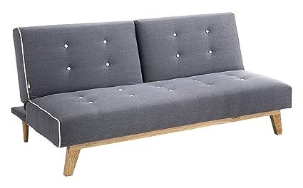 Tomasucci Tweet A Sofa/Bett Chaise Longue, Stoff, Grau, 86x 82x 180cm