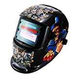 Li Battery+Solar Auto darkening welding helmet/face mask/Electric welder mask/cap for the welding machine (EF9040G, 10) (Color: 10, Tamaño: EF9040G)