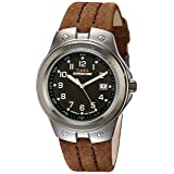 Timex Men's T49631 Expedition Metal Tech Brown Leather Strap Watch (Color: Brown/Silver-Tone/Black, Tamaño: 000)
