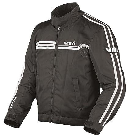 NERVE 1510130214_08 Swift Blouson Moto, Noir/Blanc, Taille : 4XL