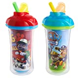 Munchkin Paw Patrol Click Lock Insulated Straw Cup,2 Pack (Color: Red/Blue)