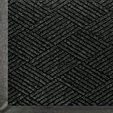 WaterHog Eco Commercial-Grade Entrance Mat, Indoor/Outdoor Black Smoke Floor Mat 4' Length x 3' Width, Black Smoke by M+A Matting
