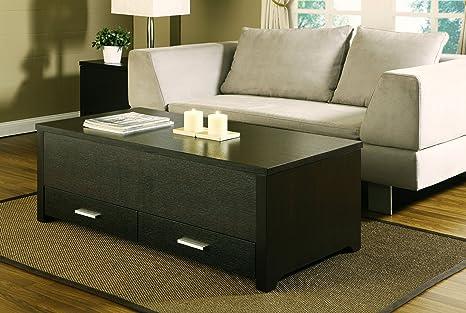 Furniture of America Achley Trunk-Style Coffee Table, Dark Espresso